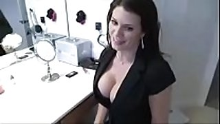 Stepmom catches son jerking and copulates him