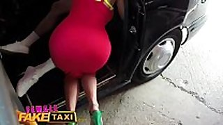 Female fake taxi dude gives busty golden-haired milf a...