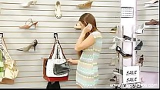Daughter screwed in shoe store