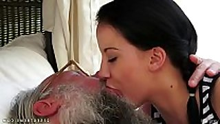 Old young giving a kiss compilation