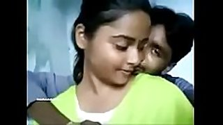 Hot desi college dark knob harlots giving a kiss with lover and bo...