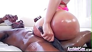 (assh lee) bitch cheating wife with big oiled arse receive ha...