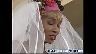 Ebony bride gets pounded by superlatively fine dude white dong