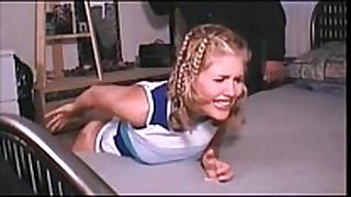 Amateur legal age teenager golden-haired spanked on daybed - watch live...
