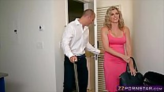 Awesome blond milf cory chase doing anal with ...