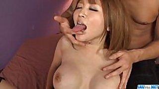 Yuki touma sure knows how to handle a big weenie ...