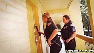 Big black schlongs interest these female cops greater quantity...