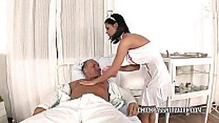 Slutty nurse black angelika bonks in the hospit...