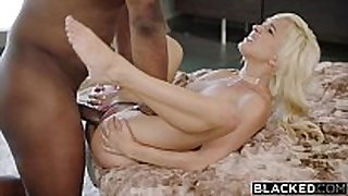 Blacked first interracial for wicked blonde el...