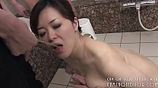 Submissive japanese bitch ravishing dick in the b...
