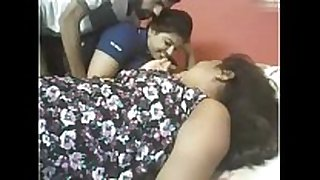 Indian two chubby gals with lucky chap web camera ...