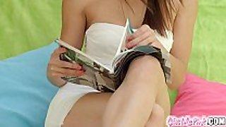 Givemepink brunette hair hair babemasturbates her delici...