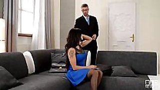 Real estate agent receives sucked and fucked by wif...
