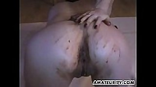 Amateur girlfriend toying and fucking with a ch...