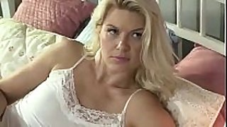 Mature floozy fucks her stepdaughter with strapon