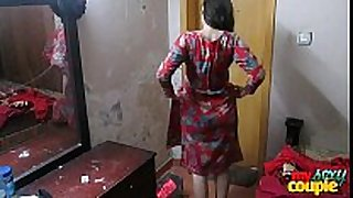 Indian cheating slutty wife sonia in shalwar suir strips bare ...