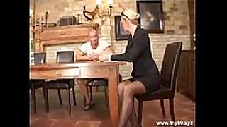 Elegant blonde german mature fucked in the a-hole ...