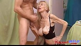 Wrinkly and skinny granny acquire fucked
