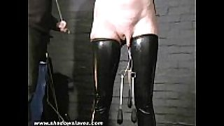 Sensory deprived slaveslut cherry torns leather...