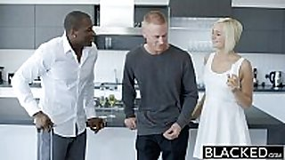 Blacked cheating golden-haired non-professional housewife kate englands firs...