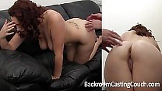 Big tit non-professional painful first anal on casting c...