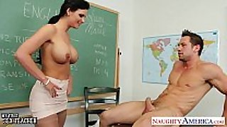 Chesty teacher phoenix marie take 10-Pounder in class...