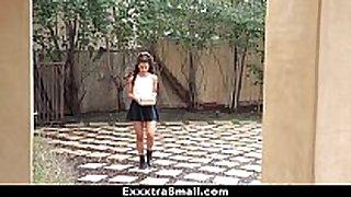 Exxxtrasmall - sexy miniature latin hottie fucks neighbor