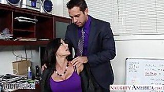 Hottie brunette hair hair kendra lust fucking in the office