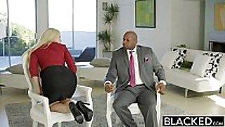 Blacked business blonde anikka albrite booty fuck...