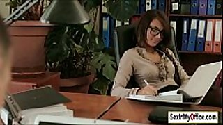Sexy secretary alexis brill works up a a sweat ...