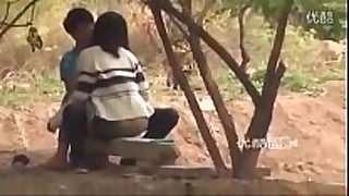 Couple sex in the park