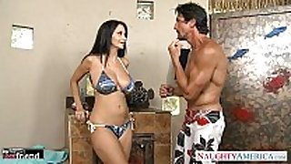 Brunette milf ava addams acquires big knockers fucked