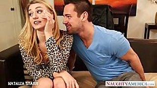 Gorgeous blonde natalia starr gives oral stimulation