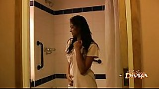 Indian pornstar babe divya seducing her fans wi...