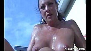 Naked aged white wife tugjob