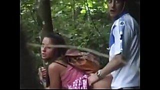 Very hawt hottie in the woods -voyeur spy web camera