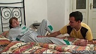 Injured grandma receives healed by juvenile schlong