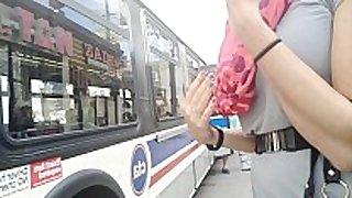 Hot playgirl no panty bus upskirt