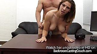 Fit gamer chick anal casting