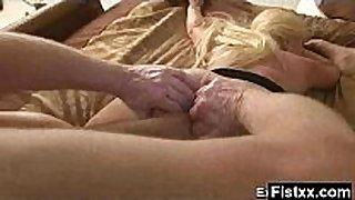 Yummy titty fisting woman fucked hard
