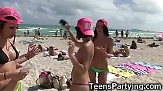 Spring break legal age teenager gals partying!
