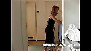 Stepmom seduces stepson into getting hard
