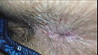 Wife shit stained bushy chocolate hole inspection