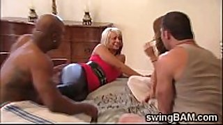 two lustful couples fuck like animals in swingers p...