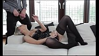 Strapon double penetration for hawt golden-haired from ...