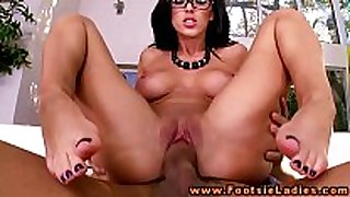 Foot honey in spex feet and love tunnel screwed in high...