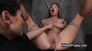 Bound wired sweetheart love tunnel fist drilled