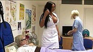 Sexy cfnm nurses give fellatio
