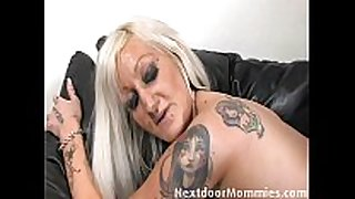 Tattooed milf takes it in the a-hole