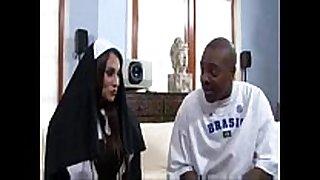 Sheila marie large milk shakes nun copulates a large dark cock
